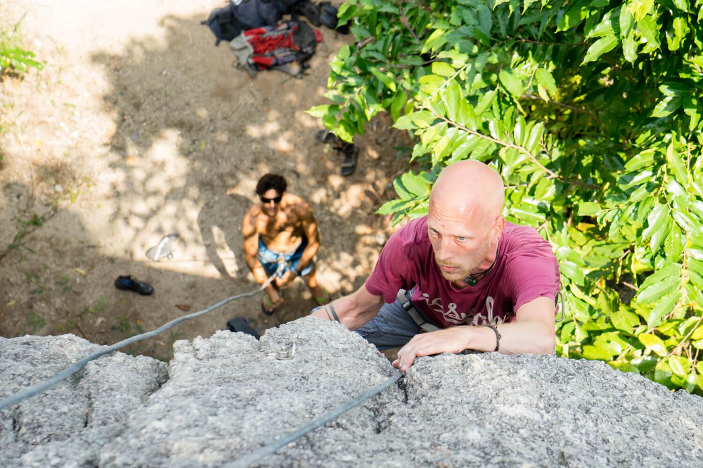 rock climbing koh tao goodtime adventures thailand